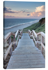 Canvas print  Stairs down to the beach, Sylt - Markus Lange