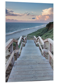 Foam board print  Stairs down to the beach, Sylt - Markus Lange