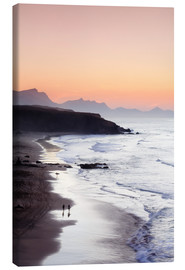 Canvas print  View from Playa del Viejo to the Peninsula of Jandia, La Pared - Markus Lange