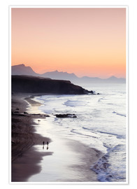 Premium poster  View from Playa del Viejo to the Peninsula of Jandia, La Pared - Markus Lange