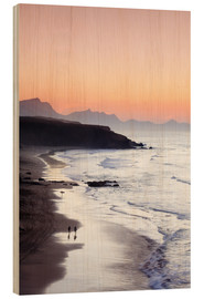 Wood print  View from Playa del Viejo to the Peninsula of Jandia, La Pared - Markus Lange
