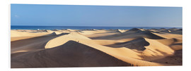 Foam board print  Panorama of the sand dunes of Maspalomas - Markus Lange