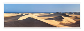 Premium poster Panorama of the sand dunes of Maspalomas