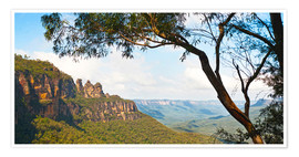 Premium poster Panoramic photo of the Three Sisters