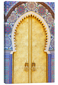 Canvas print  Royal Palace Door, Fez - Douglas Pearson