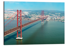 Aluminium print  Ponte 25 de Abril over the Tagus River - Gabrielle & Michel Therin-Weise