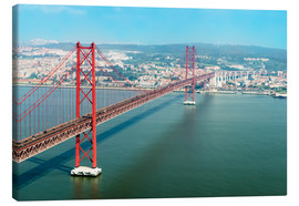 Canvas print  Ponte 25 de Abril over the Tagus River - Gabrielle & Michel Therin-Weise