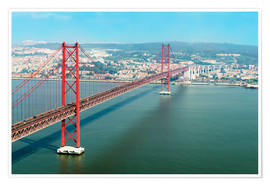 Premium poster Ponte 25 de Abril over the Tagus River