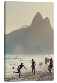 Canvas  Locals playing football on Ipanema - Alex Robinson