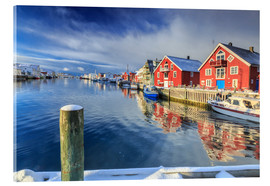 Acrylic print  colorful fisherman houses in Norway - Roberto Moiola
