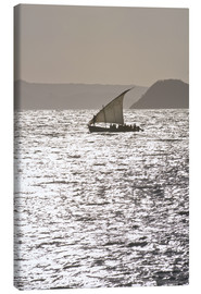 Canvas print  Small sailing boat at sunset near Diego Suarez (Antsiranana), Madagascar, Indian Ocean, Africa - Michael Runkel