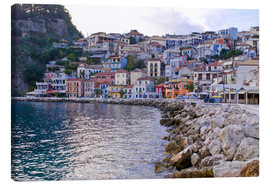 Canvas print  Harbor of Parga, mainland Greece, Greece, Europe - Michael Runkel