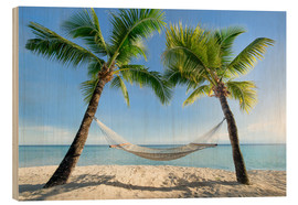 Wood  Hammock at the beach with palm trees in the south pacific - Jan Christopher Becke