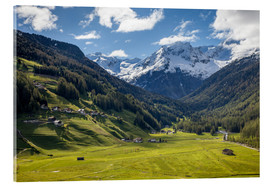 Acrylic print  High mountain valley at Riva di Tures South Tyrol (Italy) - Christian Müringer