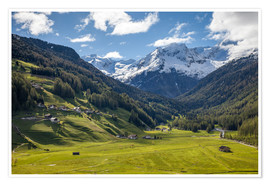 Premium poster High mountain valley at Riva di Tures South Tyrol (Italy)