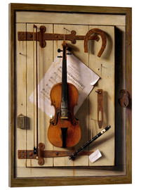 Acrylic print  Still Life - Violin and Music - William Michael Harnett