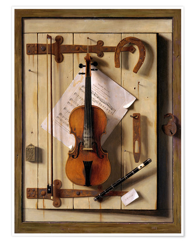 Premium poster Still Life - Violin and Music