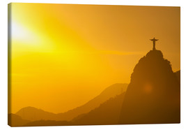 Canvas  View from the Sugarloaf of Christ the Redeemer statue on Corcovado, Rio de Janeiro, Brazil, South Am - Michael Runkel