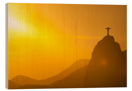 Wood  View from the Sugarloaf of Christ the Redeemer statue on Corcovado, Rio de Janeiro, Brazil, South Am - Michael Runkel
