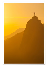 Premium poster Christ the Redeemer statue, Rio
