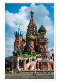 Premium poster  St. Basil's Cathedral, Moscow - Michael Runkel