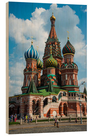 Wood print  St. Basil's Cathedral, Moscow - Michael Runkel