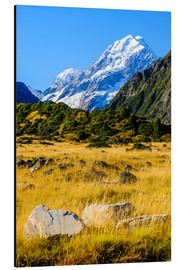 Aluminium print  Mount Cook in New Zealand - Michael Runkel