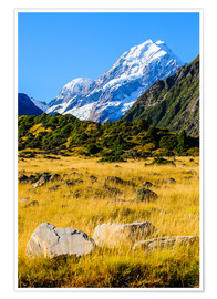 Premium poster Mount Cook in New Zealand