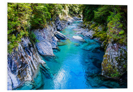 Foam board print  The stunning Blue Pools, Haast Pass, South Island, New Zealand - Michael Runkel