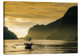 Canvas print  Outrigger in the bay of El Nido - Michael Runkel