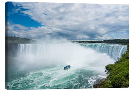 Canvas print  Tourist boat in the mist of the Horseshoe Falls (Canadian Falls), Niagara Falls, Ontario, Canada, No - Michael Runkel