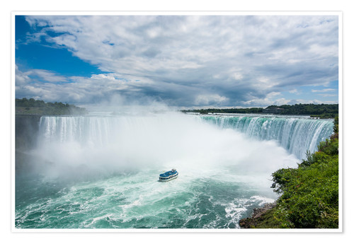Poster Tourist boat in the mist of the Horseshoe Falls (Canadian Falls), Niagara Falls, Ontario, Canada, No
