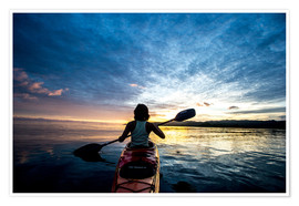 Premium poster Sea Kayaking in Raja Ampat, West Papua, Indonesia, New Guinea, Southeast Asia, Asia