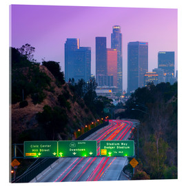 Acrylic print  Route 110, Los Angeles, California, United States - Alan Copson