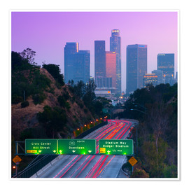 Premium poster  Route 110, Los Angeles, California, United States - Alan Copson