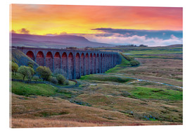 Acrylic print  Pen-y-ghent and Ribblehead Viaduct on Settle to Carlisle Railway, Yorkshire Dales National Park, Nor - Alan Copson