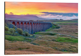 Aluminium print  Pen-y-ghent and Ribblehead Viaduct on Settle to Carlisle Railway, Yorkshire Dales National Park, Nor - Alan Copson