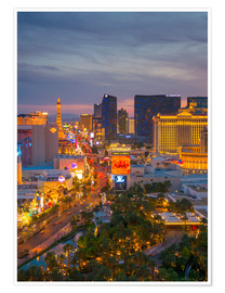 Poster The Strip, Las Vegas, Nevada, United States of America, North America