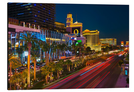 Aluminium print  The Strip, Las Vegas, Nevada, United States of America, North America - Alan Copson