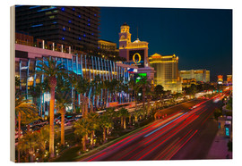 Wood print  The Strip, Las Vegas, Nevada, United States of America, North America - Alan Copson