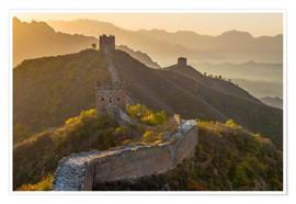 Premium poster  Great Wall of China, UNESCO World Heritage Site, dating from the Ming Dynasty, section looking towar - Alan Copson