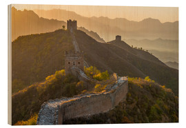Wood  Great Wall of China, UNESCO World Heritage Site, dating from the Ming Dynasty, section looking towar - Alan Copson