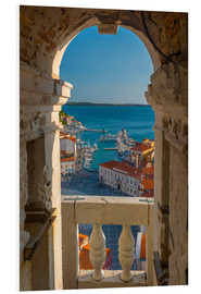 Foam board print  Old Town from Church of St. George (Cerkev sv. Jurija), Piran, Primorska, Slovenian Istria, Slovenia - Alan Copson