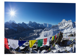 Foam board print  Gokyo Ri with Ngozumba Glacier - Peter Barritt