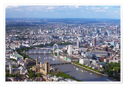 Premium poster Aerial view of the Houses of Parliament