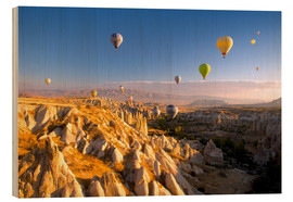 Wood  Hot air balloons over Cappadocia - David Clapp