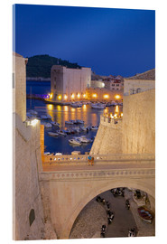 Acrylic print  Old City Walls, Dubrovnik - Frank Fell