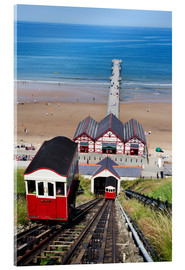 Acrylic print  Cliff Tramway and the Pier at Saltburn by the Sea, Redcar and Cleveland, North Yorkshire, Yorkshire, - Mark Sunderland