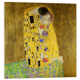 Acrylic glass  The kiss - Gustav Klimt