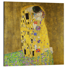 Alu-Dibond  The kiss - Gustav Klimt
